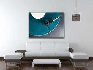Blue Turntable Canvas Print or Poster - Canvas Art Rocks - 4