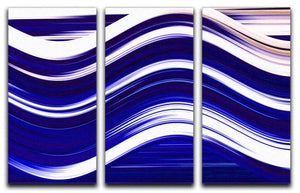 Blue Wave 3 Split Panel Canvas Print - Canvas Art Rocks - 1