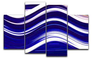 Blue Wave 4 Split Panel Canvas - Canvas Art Rocks - 1