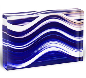 Blue Wave Acrylic Block - Canvas Art Rocks - 1