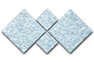 Blue water texture 4 Square Multi Panel Canvas  - Canvas Art Rocks - 1
