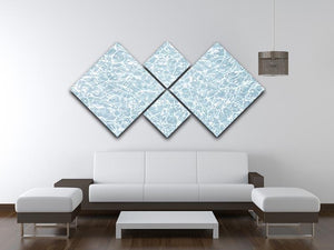Blue water texture 4 Square Multi Panel Canvas  - Canvas Art Rocks - 3