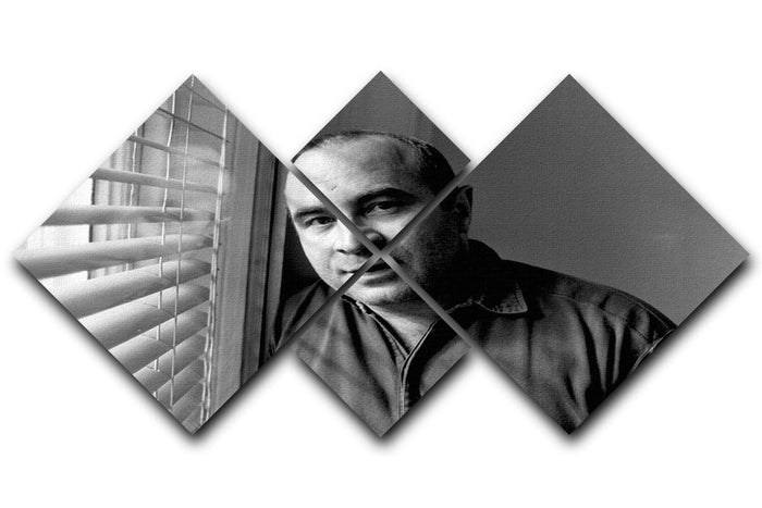 Bob Hoskins in 1986 4 Square Multi Panel Canvas