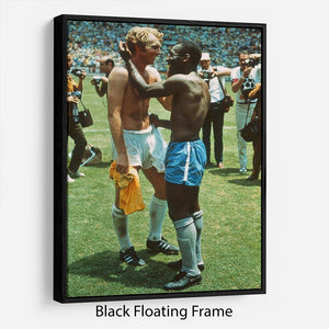 Bobby Moore and Pele Floating Frame Canvas