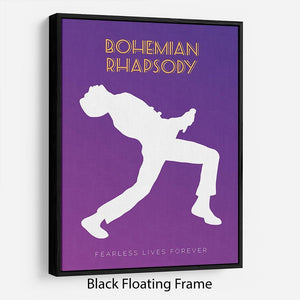 Bohemian Rhapsody Minimal Movie Floating Frame Canvas - Canvas Art Rocks - 1