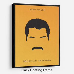 Bohemian Rhapsody Rami Malek Minimal Movie Floating Frame Canvas - Canvas Art Rocks - 1