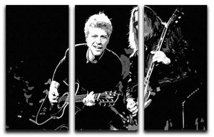 Bon Jovi 3 Split Panel Canvas Print - Canvas Art Rocks - 1
