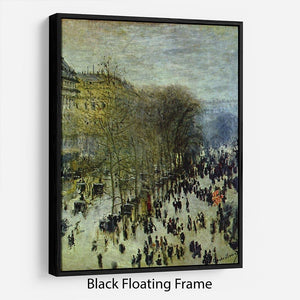 Boulevard of Capucines by Monet Floating Frame Canvas