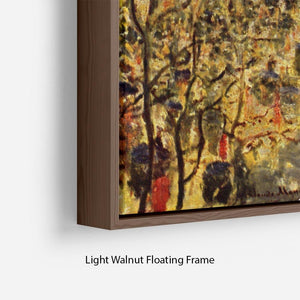 Boulevard of Capucines in Paris by Monet Floating Frame Canvas