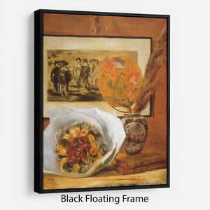 Bouquet by Renoir Floating Frame Canvas