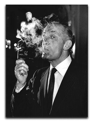 Boxer Henry Cooper smoking a pipe Canvas Print or Poster  - Canvas Art Rocks - 1