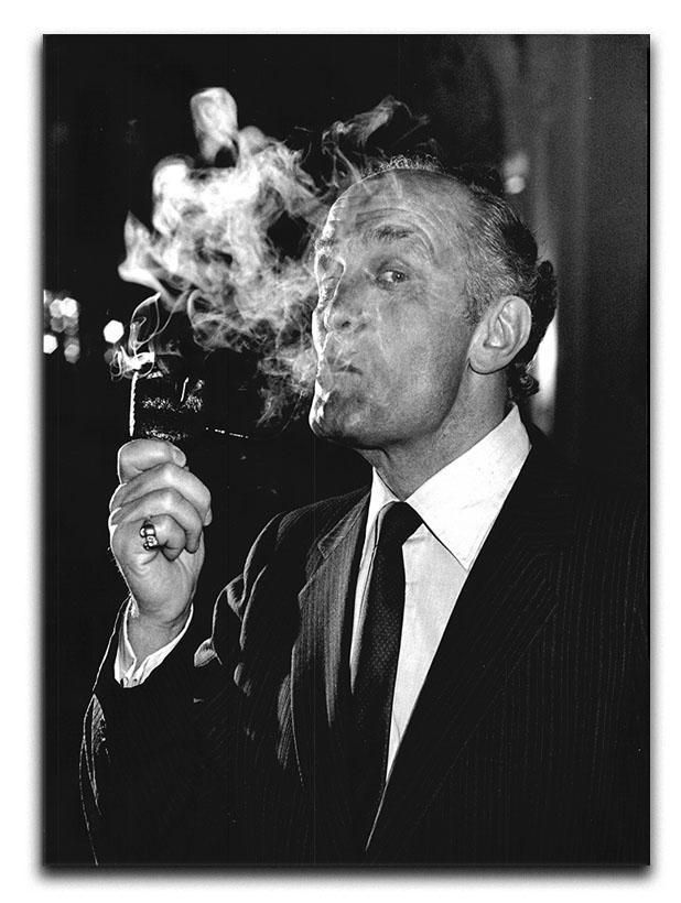 Boxer Henry Cooper smoking a pipe Canvas Print or Poster