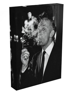 Boxer Henry Cooper smoking a pipe Canvas Print or Poster - Canvas Art Rocks - 3