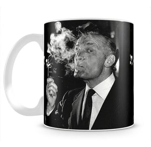Boxer Henry Cooper smoking a pipe Mug - Canvas Art Rocks - 2