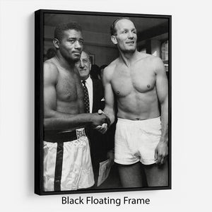 Boxers Floyd Patterson and Henry Cooper Floating Frame Canvas