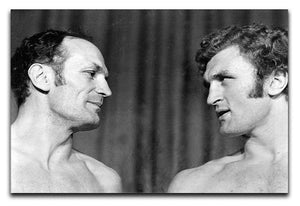 Boxers Henry Cooper and Joe Bugner Canvas Print or Poster  - Canvas Art Rocks - 1