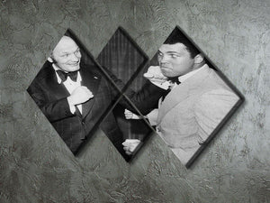 Boxers Henry Cooper and Muhammad Ali 4 Square Multi Panel Canvas - Canvas Art Rocks - 2