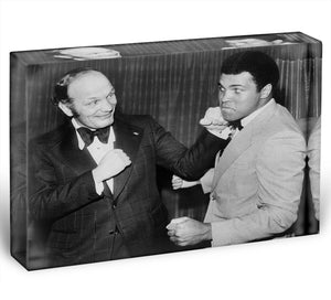 Boxers Henry Cooper and Muhammad Ali Acrylic Block - Canvas Art Rocks - 1
