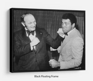 Boxers Henry Cooper and Muhammad Ali Floating Frame Canvas