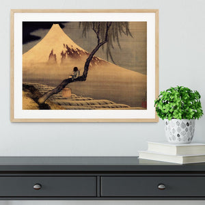 Boy in front of Fujiama by Hokusai Framed Print - Canvas Art Rocks - 3