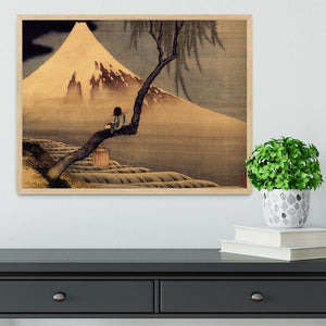 Boy in front of Fujiama by Hokusai Framed Print - Canvas Art Rocks - 4