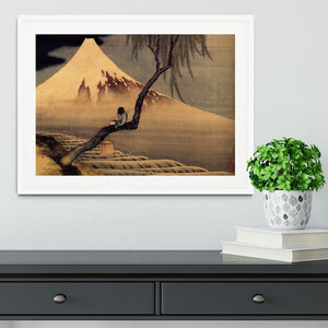 Boy in front of Fujiama by Hokusai Framed Print - Canvas Art Rocks - 5
