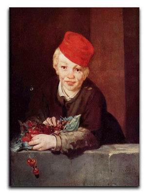 Boy with the cherries by Manet Canvas Print or Poster  - Canvas Art Rocks - 1