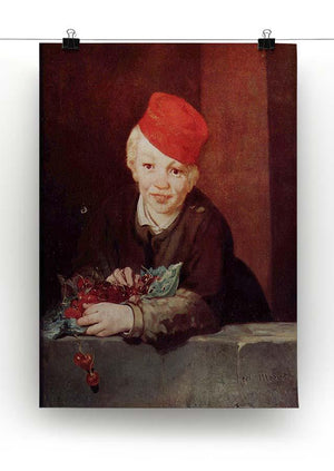 Boy with the cherries by Manet Canvas Print or Poster - Canvas Art Rocks - 2