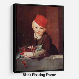 Boy with the cherries by Manet Floating Frame Canvas