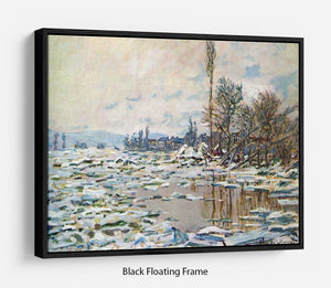 Break Up of Ice by Monet Floating Frame Canvas