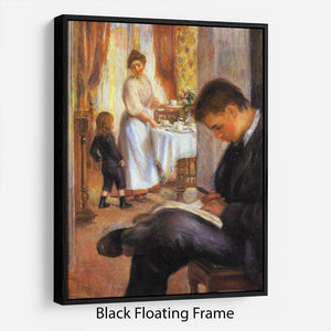 Breakfast at Berneval by Renoir Floating Frame Canvas