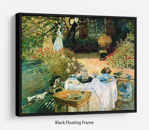 Breakfast by Monet Floating Frame Canvas