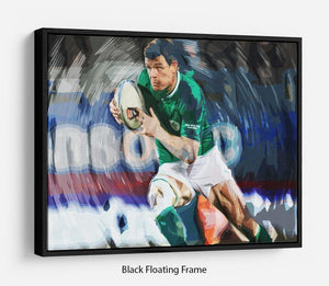 Brian ODriscoll Floating Frame Canvas