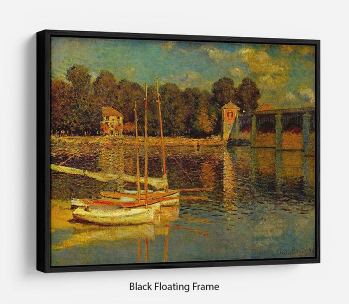 Bridge at Argenteuil by Monet Floating Frame Canvas