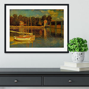 Bridge at Argenteuil by Monet Framed Print - Canvas Art Rocks - 1
