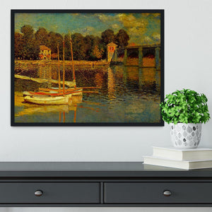 Bridge at Argenteuil by Monet Framed Print - Canvas Art Rocks - 2