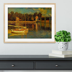Bridge at Argenteuil by Monet Framed Print - Canvas Art Rocks - 3