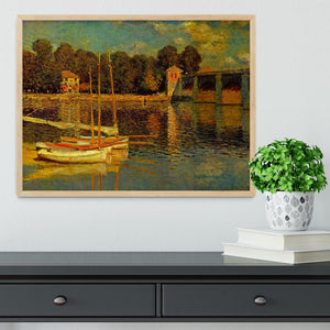 Bridge at Argenteuil by Monet Framed Print - Canvas Art Rocks - 4