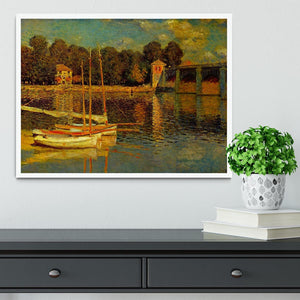 Bridge at Argenteuil by Monet Framed Print - Canvas Art Rocks -6