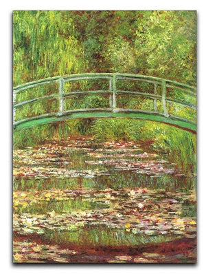 Bridge over the sea rose pond by Monet Canvas Print & Poster  - Canvas Art Rocks - 1