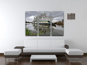 Bridgewater Canal 3 Split Panel Canvas Print - Canvas Art Rocks - 3