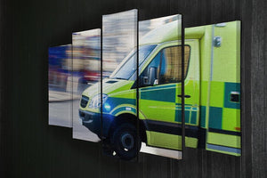 British ambulance in motion blur 5 Split Panel Canvas  - Canvas Art Rocks - 2