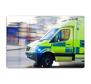 British ambulance in motion blur HD Metal Print