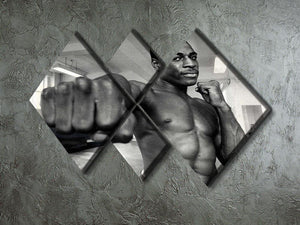 British boxer Frank Bruno 4 Square Multi Panel Canvas - Canvas Art Rocks - 2