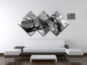 British boxer Frank Bruno 4 Square Multi Panel Canvas - Canvas Art Rocks - 3