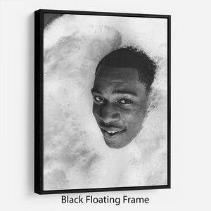 British boxer Frank Bruno in the Jacuzzi Floating Frame Canvas