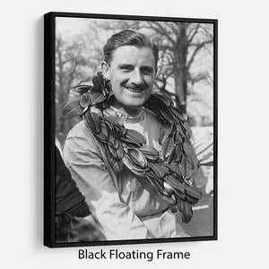 British racing driver Graham Hill Floating Frame Canvas