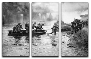British troops training 3 Split Panel Canvas Print - Canvas Art Rocks - 1