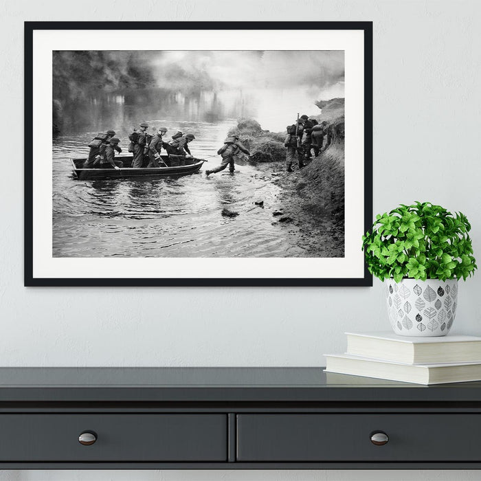 British troops training Framed Print