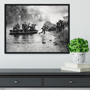 British troops training Framed Print - Canvas Art Rocks - 2